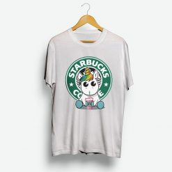 Unicorn Drink Coffee On Starbuck T-Shirt