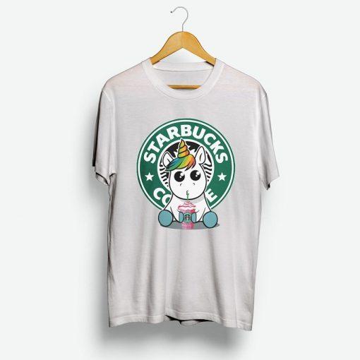 Unicorn Drink Coffee On Starbuck T-Shirt