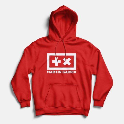 martin garrix logo hoodie red