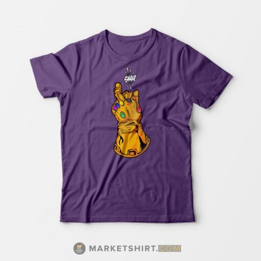 Avenger Infinity Gauntlet Snap T-shirt