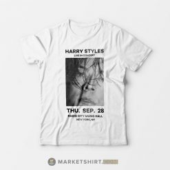 Harry Styles Live in Concert Radio City Music Hall New York Merchandise T-Shirt
