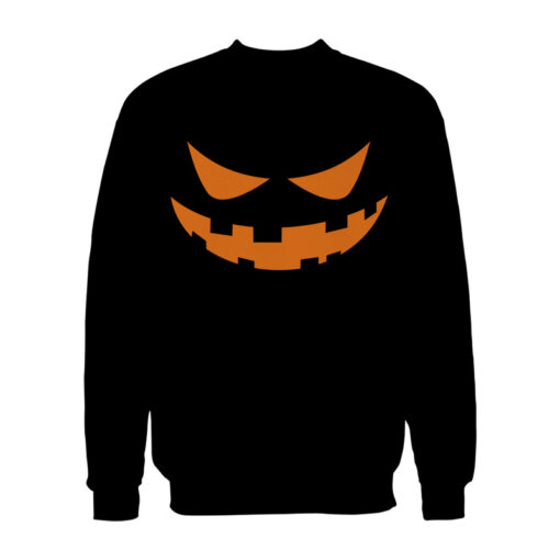 Jack O Lantern Face Halloween Sweatshirt