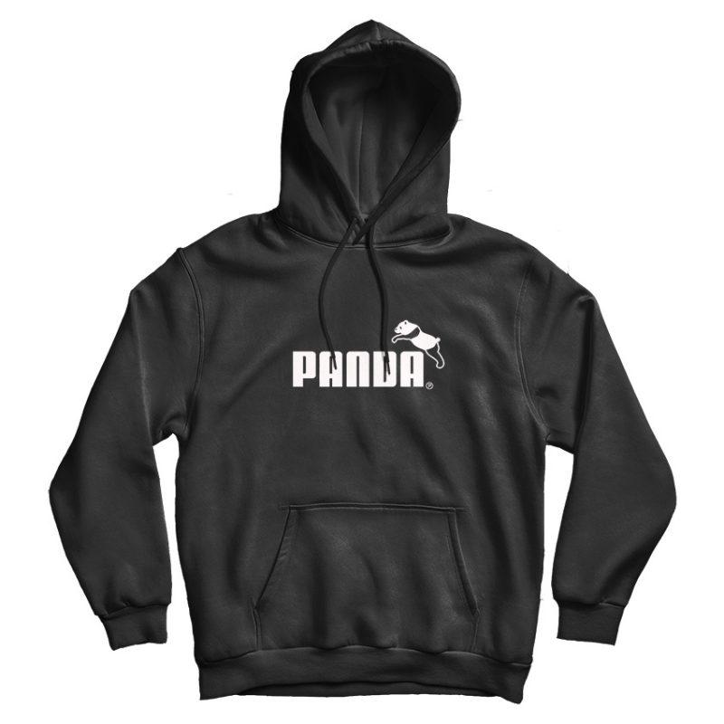 Panda Funny Logo Parody Puma Hoodie - marketshirt.com