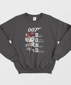 007 Bond Pierce Brosnan Roger Moore Sean Connery Daniel Sweatshirt