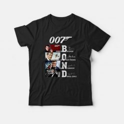 007 Bond Pierce Brosnan Roger Moore Sean Connery Daniel T-shirt