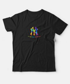 Autism Awareness New York Yankees It's Ok To Be Different T-shirt