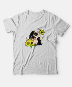 Baby Panda Sunflower T-Shirt