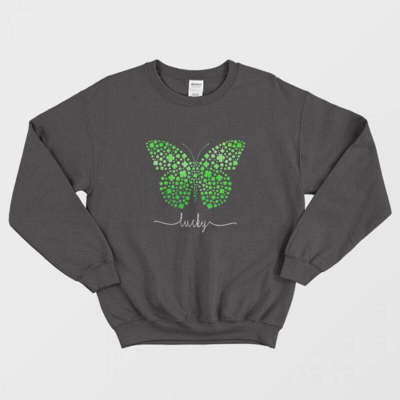 Butterfly Lucky Irish St. Patrick's Day Sweatshirt