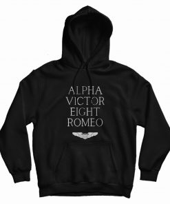 Alpha Victor Eight Romeo Pilot Plane Aviator Hoodie