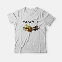 Baby Yoda R2D2 P3PO Friends TV Show T-Shirt