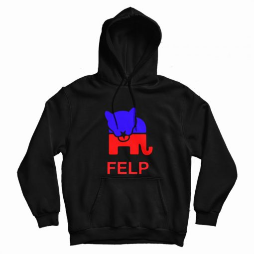 Face eating Leopard Party Logo Hoodie
