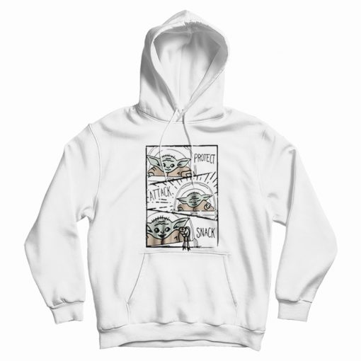 Star Wars Mandalorian Baby Yoda The Child Protect Attack Snack Hoodie