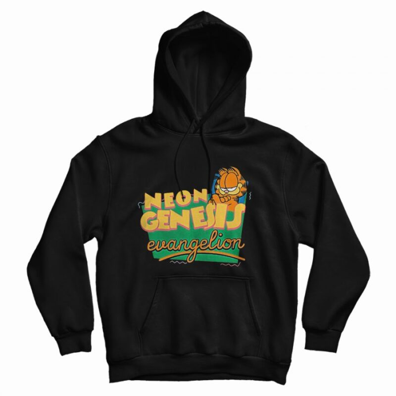 Garfield Neon Genesis Evangelion Hoodie Marketshirt Com