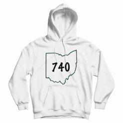 740 Area Code Ohio Hoodie