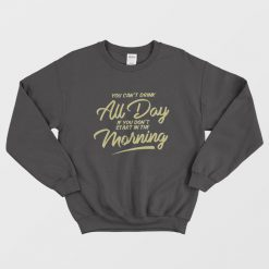 Barstool Sports Can't Drink All Day Pocket Sweatshirt