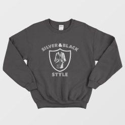 Henry Ruggs III Raiders Silver And Black Style Sweatshirt