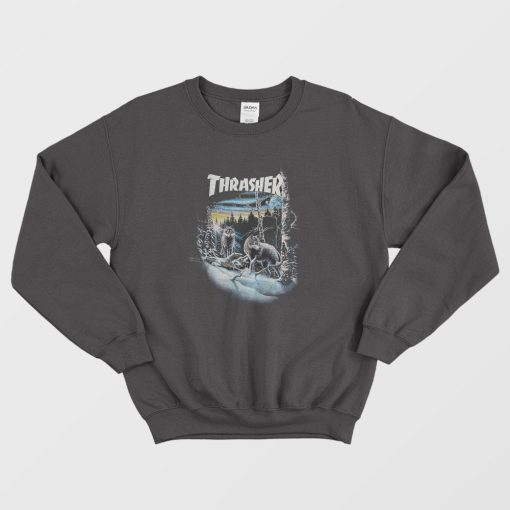 Thrasher 13 Wolves Black Sweatshirt