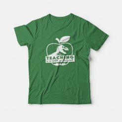 Teaching Is A Walk In The Park Jurassic Apple T-shirt