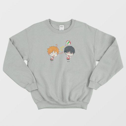 Cute Kageyama and Hinata Shouyou Chibi Sweatshirt