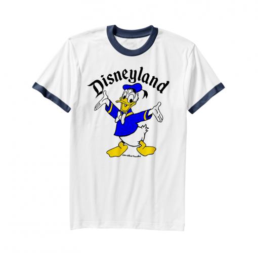 Donald Duck Disneyland Vintage Ringer T-Shirt