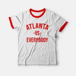 Atlanta Vs Everybody Ringer T-shirt