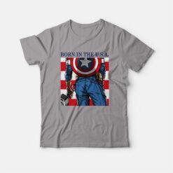Born In The USA T-shirt Captain America