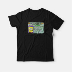 Spongebob Bikini Bottom Driver License T-shirt