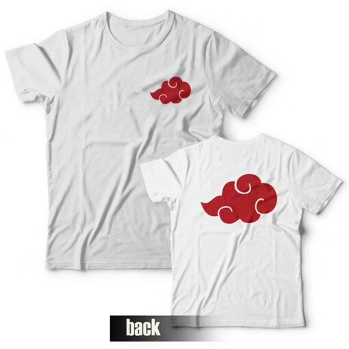 Akatsuki T-shirt Anime Naruto Front and Back