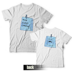 Milk Eggs Cheese T-shirt Spongebob Front and Back